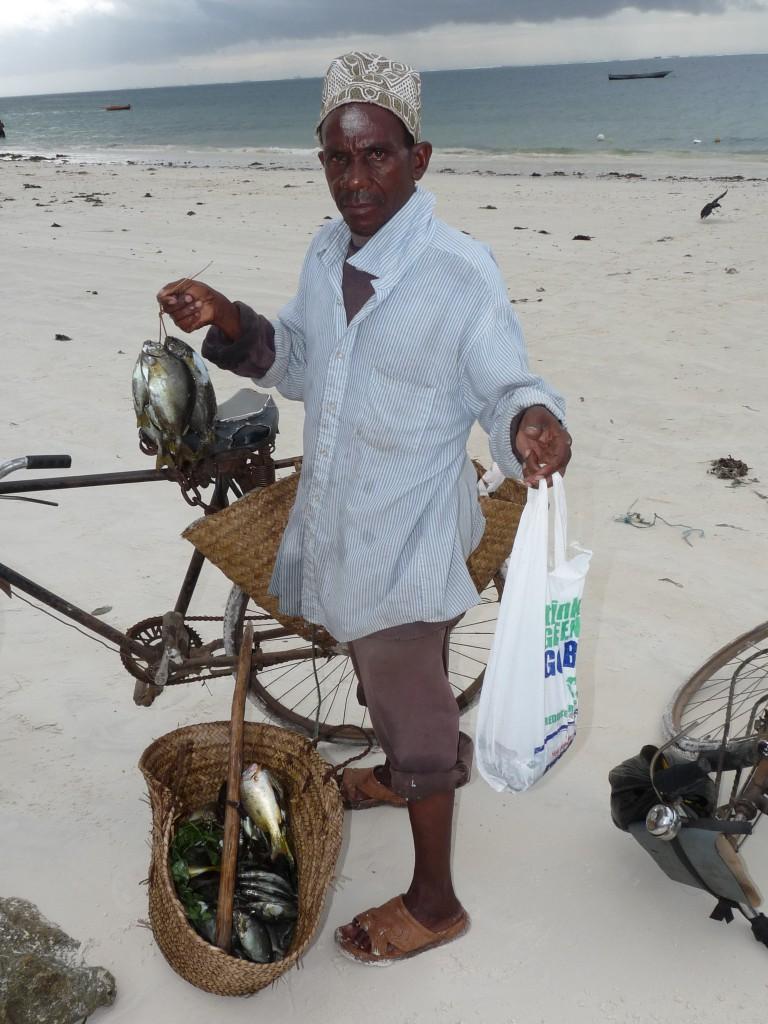 Trader bike and fish - Mombasa Ke
